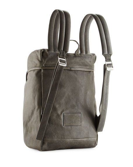 Calf Leather Hunting Backpack, Gray