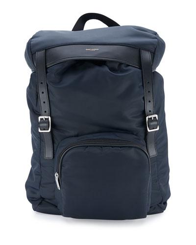 Nylon Hunting Backpack w/Leather Trim