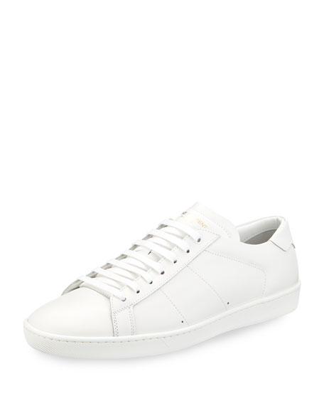Saint Laurent SL/01 Leather Low-Top Sneaker, Black