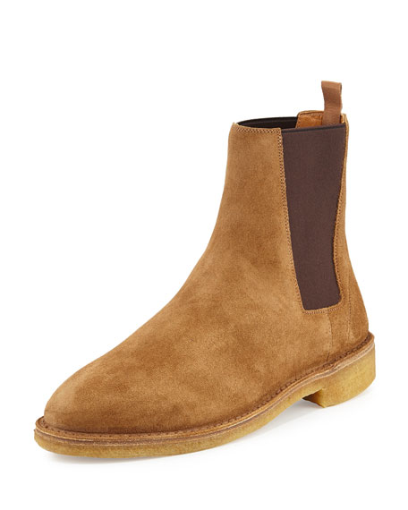 footlocker for sale Yves Saint Laurent Suede Round-Toe Booties get to buy sale online cheap shop 7KiTYWA3j