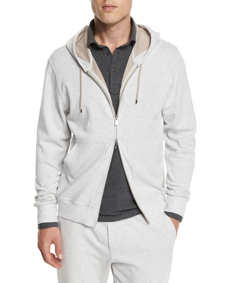 Zip-Up Spa Hoodie, Fog