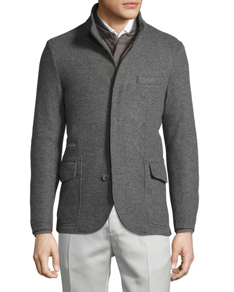 Cashmere Double-Jersey 3-in-1 Sweater Jacket