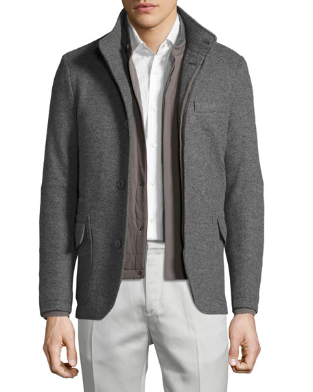 Loro Piana Cashmere Double-Jersey 3-in-1 Sweater Jacket