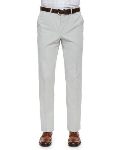 Cotton/Cashmere Five-Pocket Pants, Stone