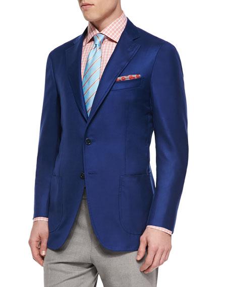 Cashmere-Silk Blazer, Royal Blue