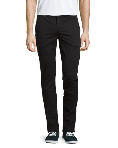 Brooks Slim-Fit Twill Trousers, Black