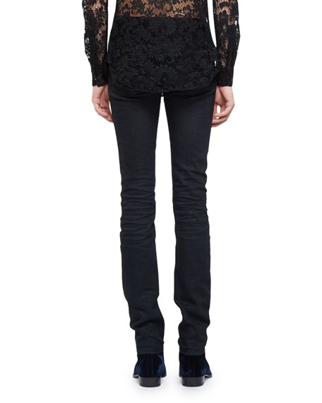 Raw Clean-Wash Skinny-Fit Denim Jeans