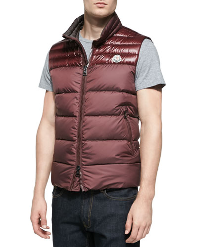 Dupres Quilted Puffer Vest, Burgundy