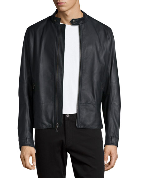 Vince Moto Leather Jacket, Black