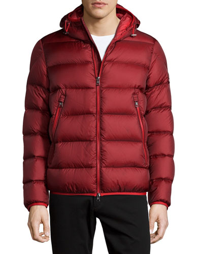 Chauvon Hooded Puffer Jacket, Burgundy