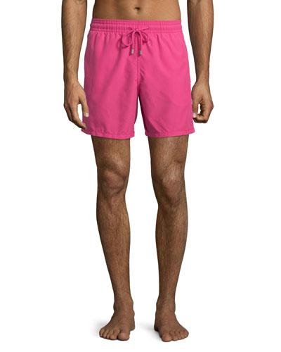 Moorea Solid Swim Trunks, Pink