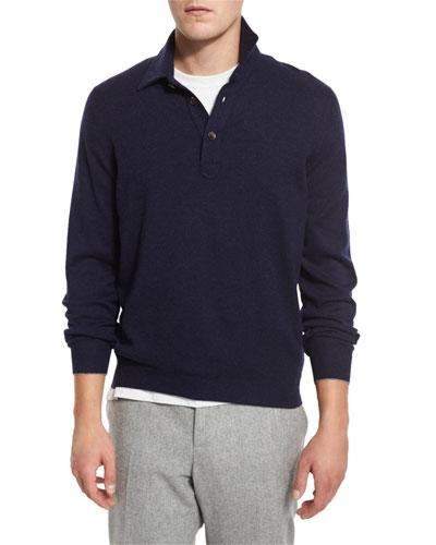 Solomeo Cashmere-Blend Polo Shirt