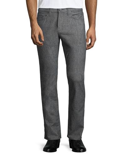 Kane Washed Melange Stretch Jeans, Gray