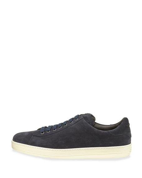 Russell Suede Low-Top Sneaker, Navy