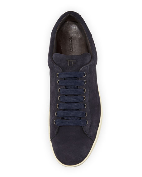 Men's Russell Suede Low-Top Sneakers, Navy