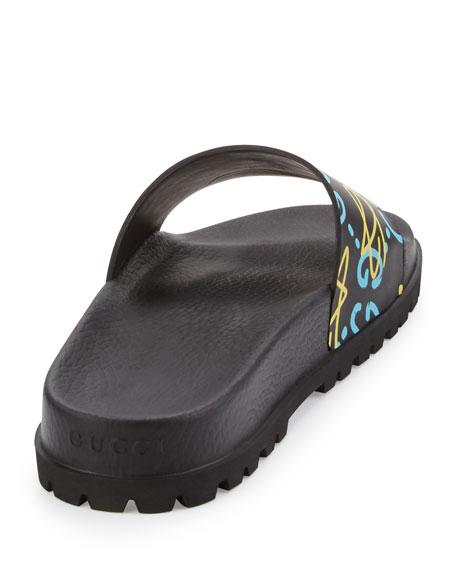 2b363d4d6 Gucci Men's Pursuit GucciGhost Leather Sandals