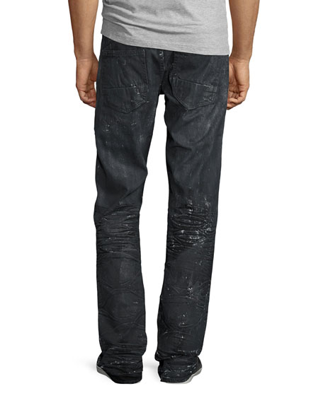 Barracuda Proton Splatter Denim Jeans, Black