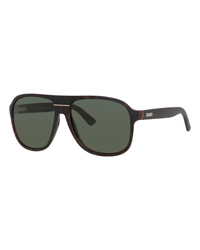 Injected Propionate Rounded-Frame Sunglasses