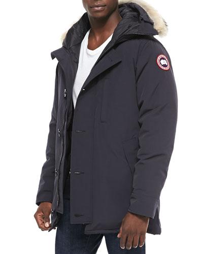Canada Goose' Men's Borden Fur-Trimmed Puffer Jacket - Black - Size S