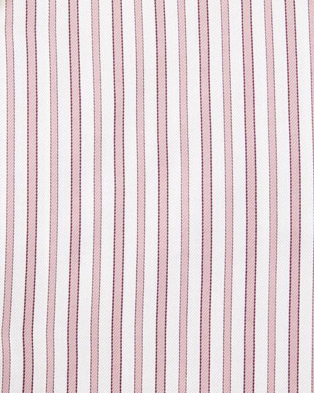 Slim-Fit Striped Trofeo Dress Shirt, Pink