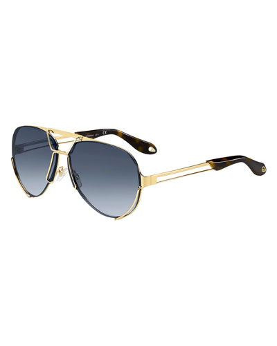 Double-Wire Aviator Sunglasses