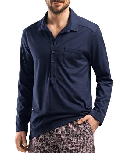 Filippo Soft Jersey Shirt, Night