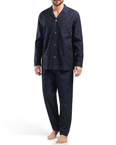 Raffael Patterned Jacquard Pajamas