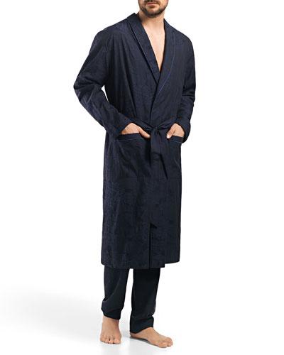 Raffael Patterned Jacquard Robe