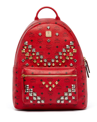 Stark Men's Stud Medium Backpack, Ruby Red
