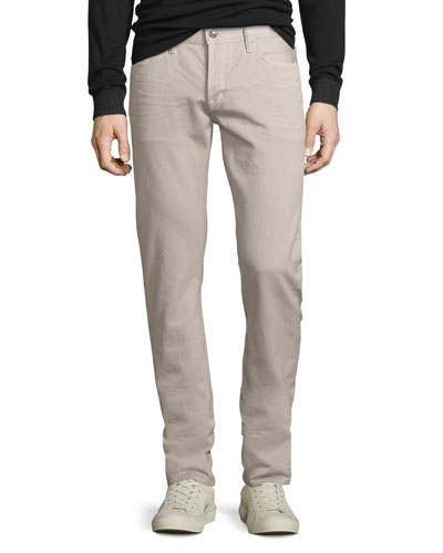 Five-Pocket Corduroy Pants, Beige