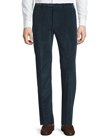 Incotex Brando Cotton-Cashmere Corduroy Trousers