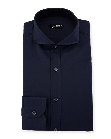 TOM FORD Double-Twist Yarn-Dye Twill Dress Shirt