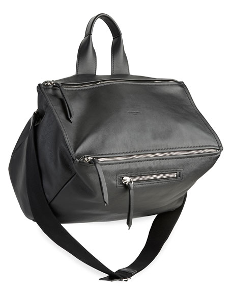 Pandora Leather Crossbody Bag, Black