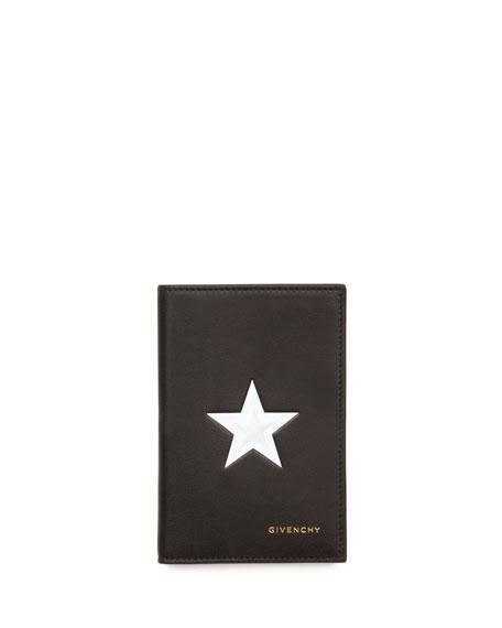 Star Bi-Fold Card Case, Black