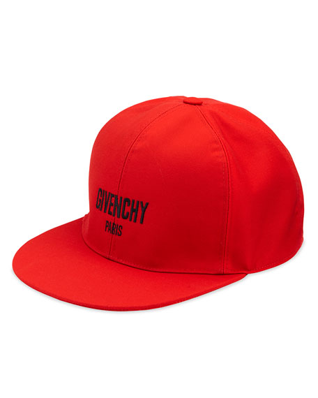 Logo Flat-Bill Hat, Red