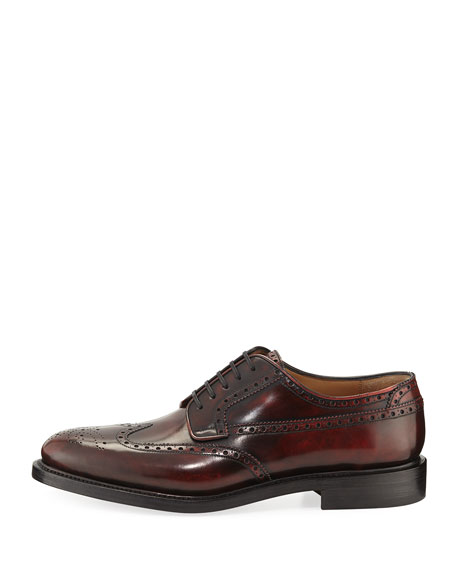 Leather Wing-Tip Shoe