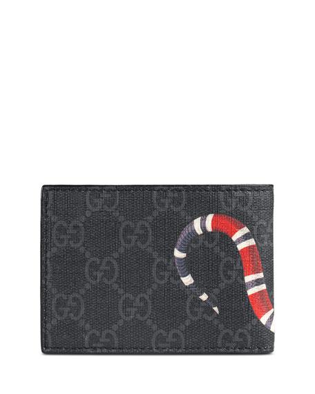 c4da15ab2c81 Gucci Bestiary Snake-Print GG Supreme Wallet