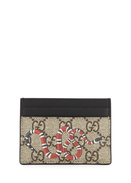 Bestiary Snake-Print GG Supreme Card Case
