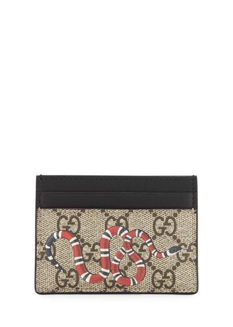 Bestiary Snake-Print GG Supreme Card Case
