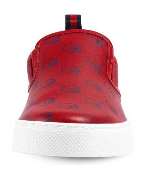 b2c12338777 Gucci GucciGhost Leather Slip-On Sneaker