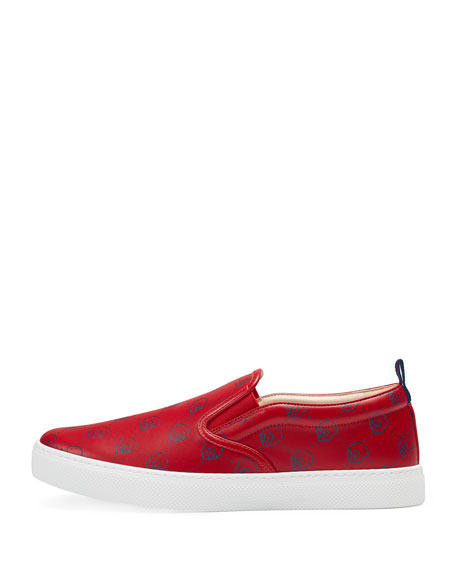 78d45d7d6a4 Gucci GucciGhost Leather Slip-On Sneaker