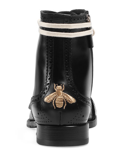 Queercore Lace-Up Brogue Boot w/Buckle