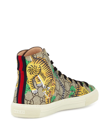 0c8878b0c8b Gucci Bengal Canvas High-Top Sneaker