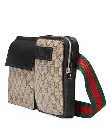 4936dc4bb151b Gucci GG Supreme Web Belt Bag