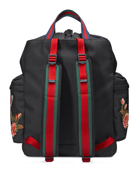 0e61bcd90df Gucci Embroidered Drawstring Backpack