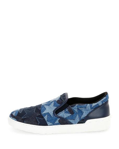 Camustars Denim Slip-On Sneaker, Light Blue
