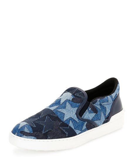 Camustars Denim Slip-On Sneaker, Light Blue