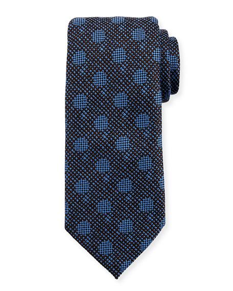Woven Silk Tonal Dot Tie