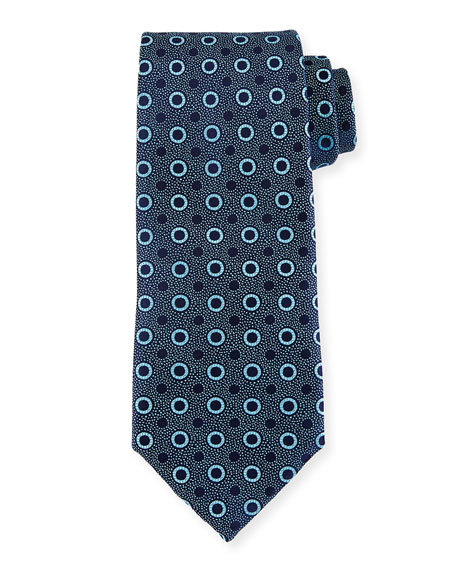 Charvet Multi-Dot Silk Tie, Blue
