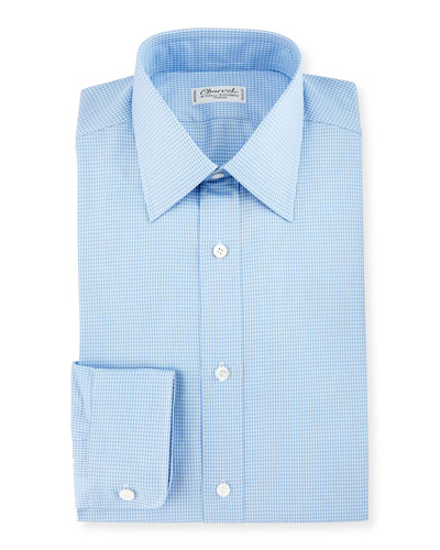 Small Check Dress Shirt, Blue
